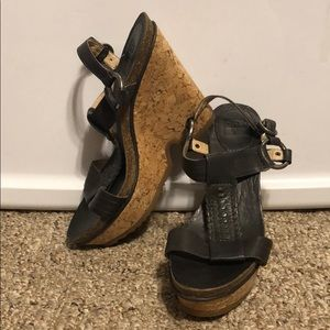 Barely Worn Frye Leather Wedges. Size 7.5M